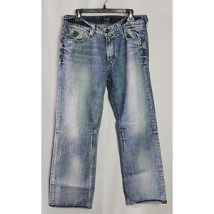 Guess Desmond Relaxed Fit Light Wash Jeans 34/30